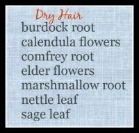 Dry Hair HerbsDry Hair Herbs