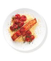 Salmon with Sauteed Tomatoes