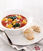 Squash and Bean Soup w Biscuits