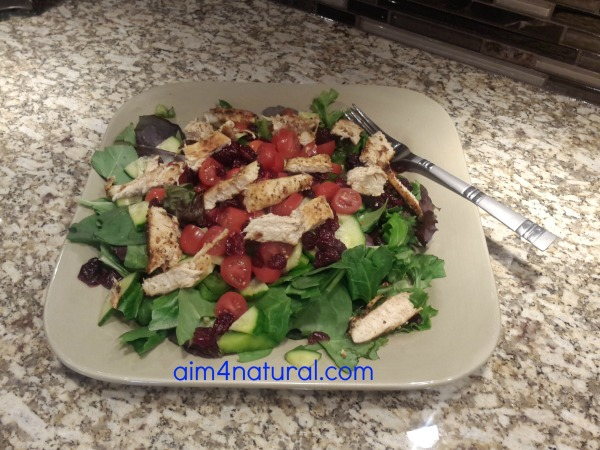 A4N Simple Spring Salad w/Grilled Chicken