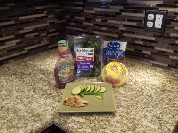 Ingredients for Simple Salad w/Grilled Chicken