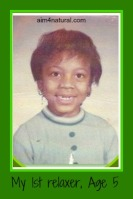 Dionne age 5 - 1st Relaxer