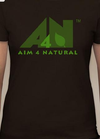 Aim 4 Natural Logo T-Shirt